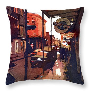 Let The Good Times Roll Throw Pillow by Kris Parins