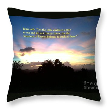 Let The Little Children Come To Me Throw Pillow