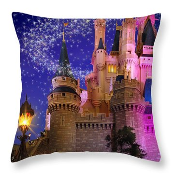Let The Magic Begin Throw Pillow by Doug Kreuger