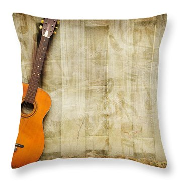 Let The Music Play Throw Pillow by Davina Washington