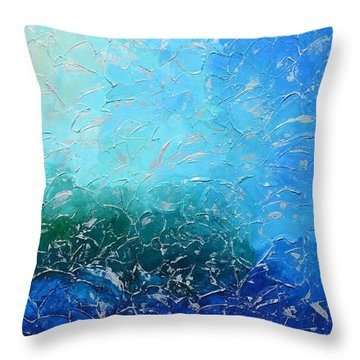 Let The Sea Roar With All Its Fullness Throw Pillow
