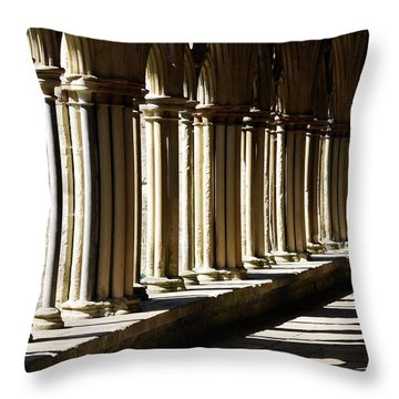 Let The Sun Shine Through Throw Pillow by Wendy Wilton