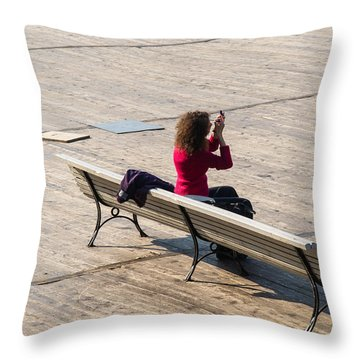 Let The Universe Wait - Featured 3 Throw Pillow by Alexander Senin