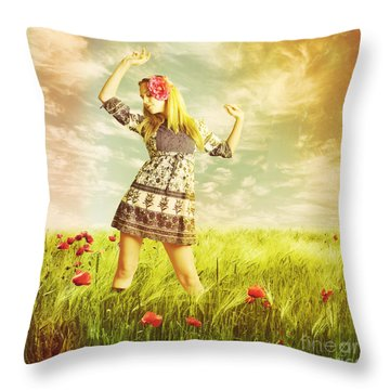 Let Us Dance In The Sun Throw Pillow