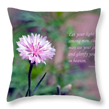 Let Your Light So Shine Throw Pillow by Deena Stoddard