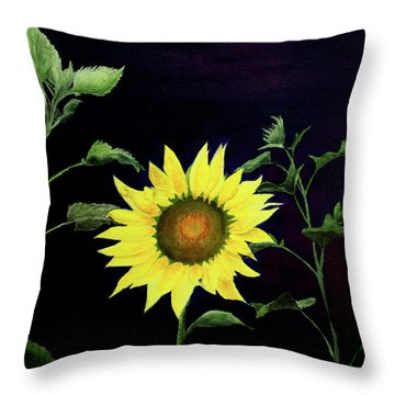 Let Your Light So Shine Throw Pillow by Jane Autry