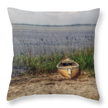 Throw Pillow featuring the photograph L'etang by Hanny Heim