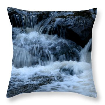 Letchworth State Park Genesee River Cascades Throw Pillow by Rose Santuci-Sofranko