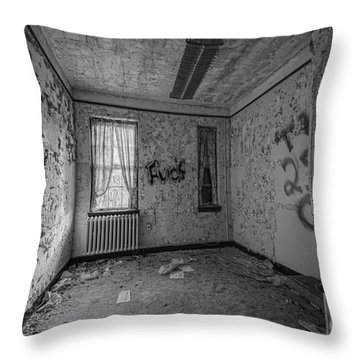 Letchworth Village Room Bw Throw Pillow