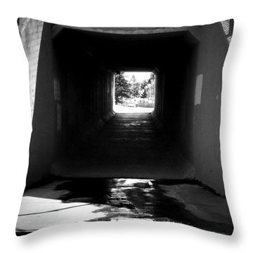 Lethbridge Underpass Throw Pillow