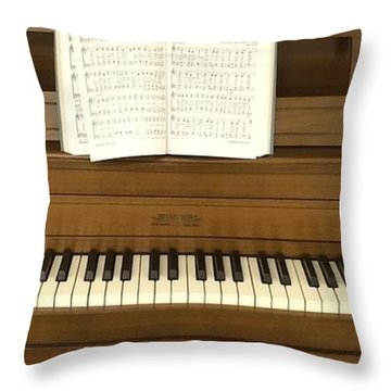 Let's All Sing Together Throw Pillow