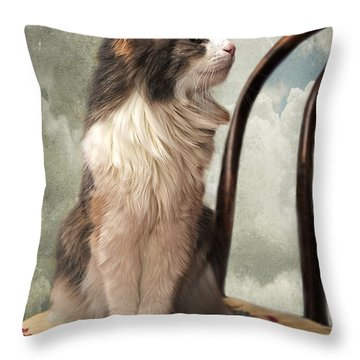 Let's Be Friends Throw Pillow by Karen Slagle