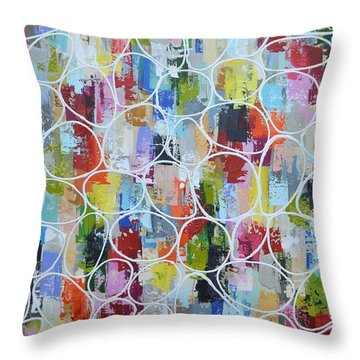 Lets Blow Bubbles Throw Pillow
