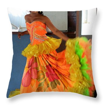 Lets Celebrate Throw Pillow by Karen Wiles