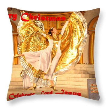 Let's Celebrate Lord Jesus And Dance Throw Pillow