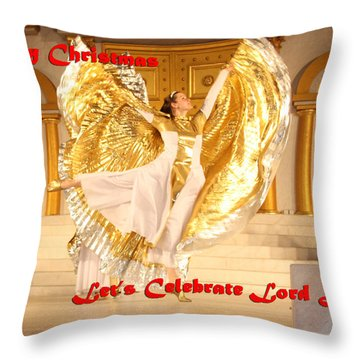 Let's Celebrate Lord Jesus4 Throw Pillow