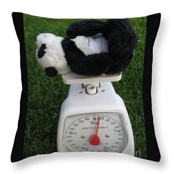 Throw Pillow featuring the photograph Let's Check My Weight Now by Ausra Huntington nee Paulauskaite