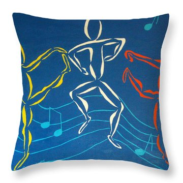 Let's Dance Throw Pillow by Pamela Allegretto