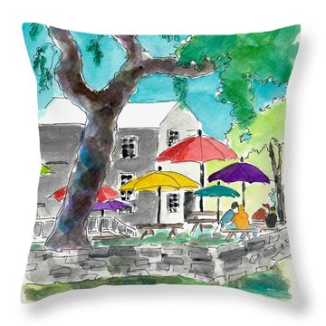 Let's Eat Outside Throw Pillow