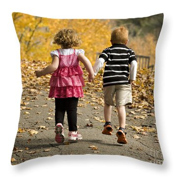 Let's Get Out Of Here Throw Pillow by Carol Lynn Coronios