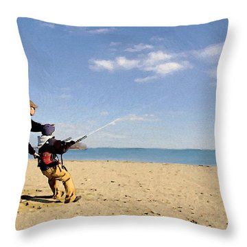 Let's Go Fly A Kite Throw Pillow