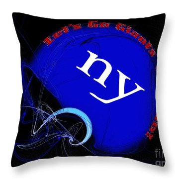 Lets Go Giants Lets Go Throw Pillow by Andee Design
