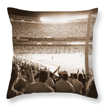 Let's Go Yanks Throw Pillow
