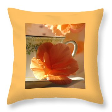 Let's Have Tea Throw Pillow by Angela Davies