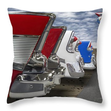 Lets Hear It For The Red White And Blue Throw Pillow