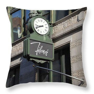 Let's Meet Under The Clock Throw Pillow by Caroline Stella