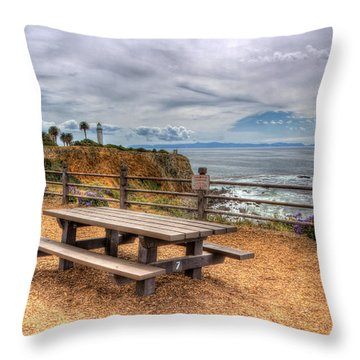 Let's Picnic Throw Pillow by Heidi Smith