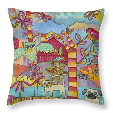 Let's Play Throw Pillow by Carla Bank