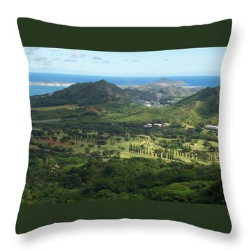 Let's Play Golf Throw Pillow by Kenneth Cole