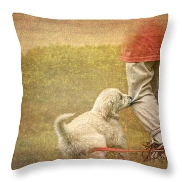 Let's Play Throw Pillow by Jayne Carney