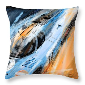 Lets Race Throw Pillow