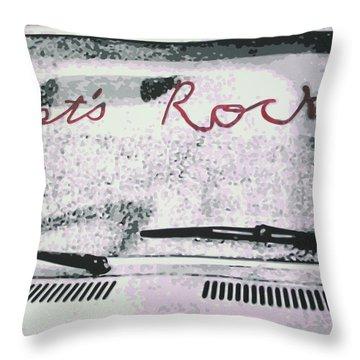 Lets Rock Throw Pillow by Ludzska