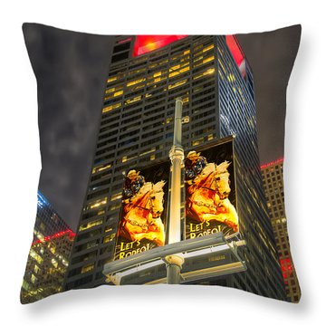 Let's Rodeo Throw Pillow