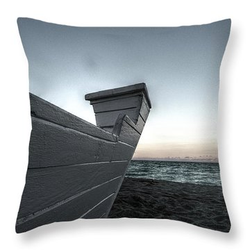 Let's Sail To The Moon Throw Pillow by Richard Reeve