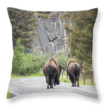 Let's Start This Day... Throw Pillow
