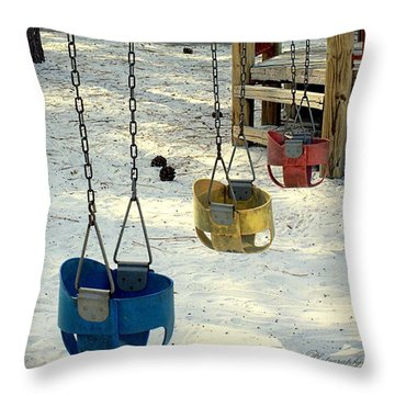 Let's Swing Throw Pillow