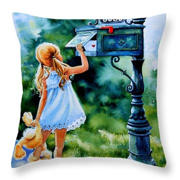 Letter For Nanna Throw Pillow