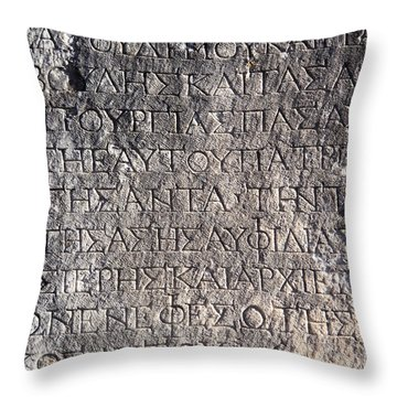Letter From The Past Throw Pillow
