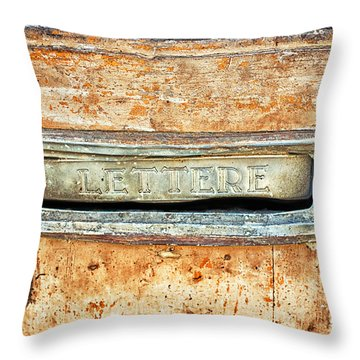Lettere Letters Throw Pillow by Silvia Ganora