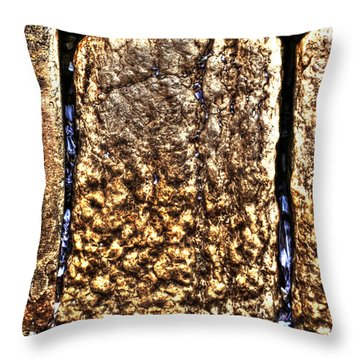 Throw Pillow featuring the photograph Letters In The Wailing Wall by Doc Braham