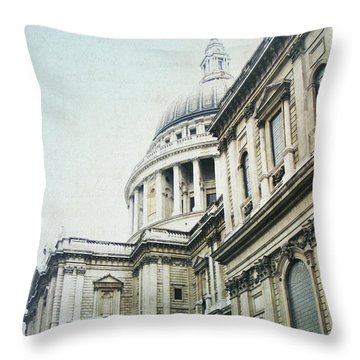 Letters From London Throw Pillow by Lisa Parrish
