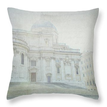 Letters From Roma Throw Pillow by Lisa Parrish