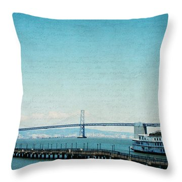 Throw Pillow featuring the photograph Letters From San Francisco by Lisa Parrish