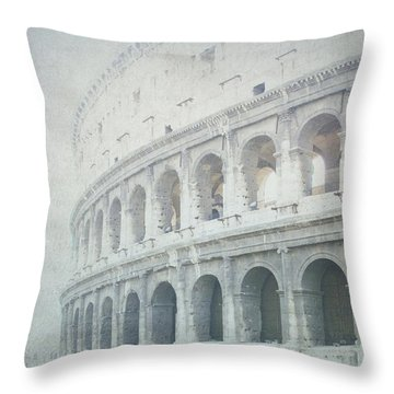 Letters From The Colosseum Throw Pillow by Lisa Parrish