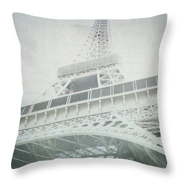 Letters From The Eiffel - Paris Throw Pillow by Lisa Parrish