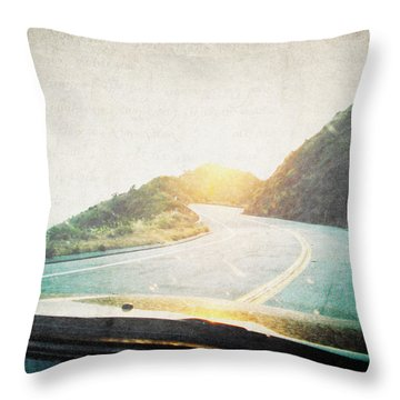 Letters From The Road Throw Pillow by Lisa Parrish